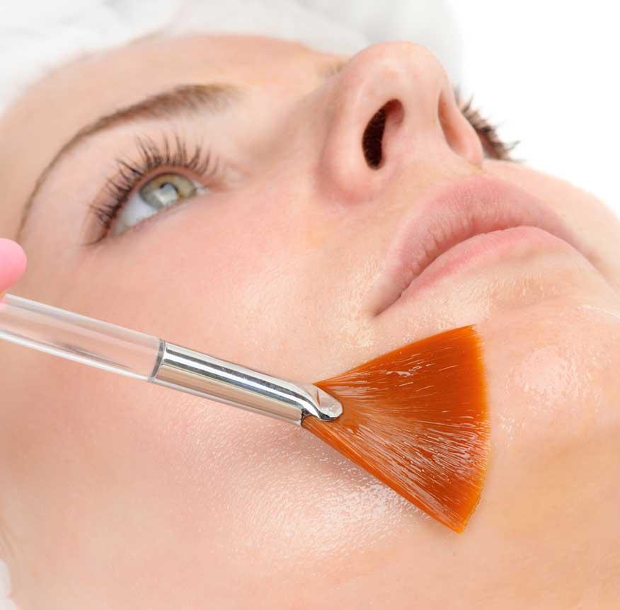 facial peeling Maske Fruchtsäure Peeling Hautverjüngung Auffrischung